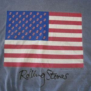 Rolling Stones American Flag T-Shirt, L